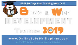 Blog and Web Development Training Details