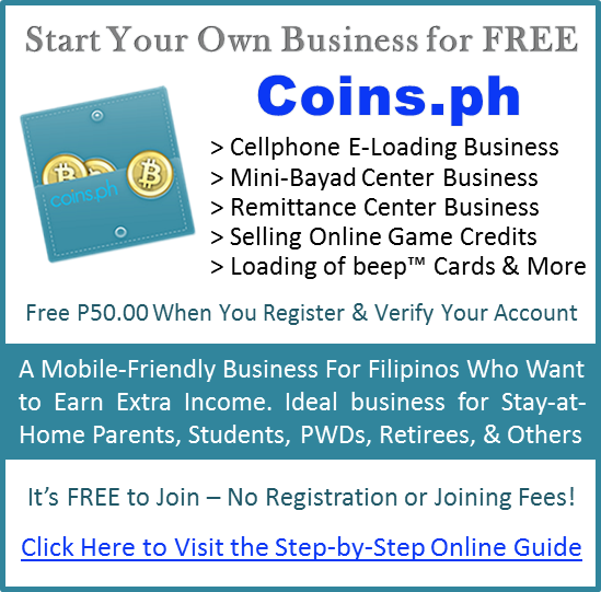 Coins.ph online step-by-step guide to start your free online business